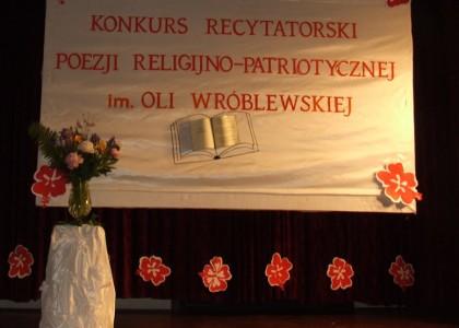 VI Konkurs Recytatorski Poezji ReligijnoPatriotycznej im Oli Wróblewskiej